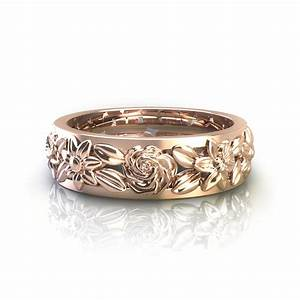 floral wedding rings With flower wedding rings