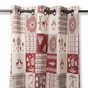 Rideaux Style Chalet : rideau patchwork style montagne ~ Teatrodelosmanantiales.com Idées de Décoration
