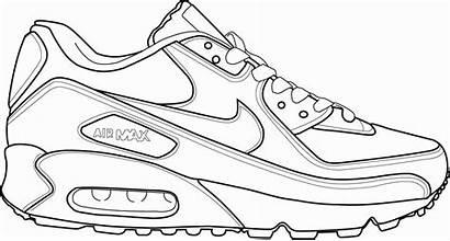 Coloring Shoe Pages Jordan Air Shoes Gemerkt