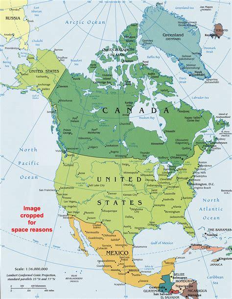north america political map political map  north