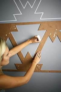 Graue Farbe Wand : geometrische formen tolle wandgestaltung mit farbe ~ Sanjose-hotels-ca.com Haus und Dekorationen