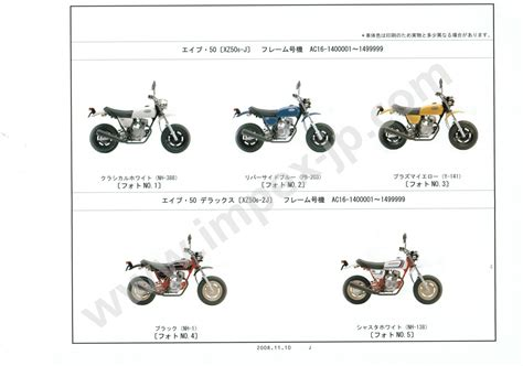 Motorcycle Parts Honda Ape50 / Deluxe / Special / Type D