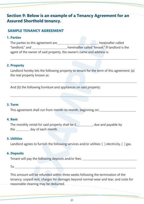 simple tenancy agreement templates
