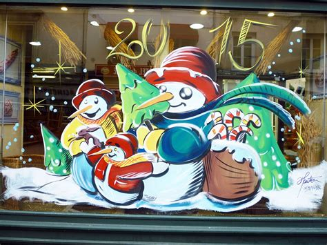 peinture vitrine noel association mairie collectivites 0698180366