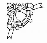 Bell Coloring Pages Bells Christmas Holly Leaves Berries Printable Drawing Taco Tinker Template Getcolorings Templates Clipartmag Tinkerbell Getdrawings Sketch Bestcoloringpagesforkids sketch template