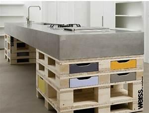 Plan De Travail En Palette : hormigon como elemento decorativo de interiores ~ Melissatoandfro.com Idées de Décoration
