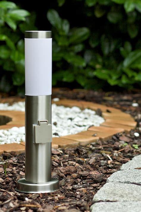 ladaire ext 233 rieur borne d 233 clairage avec prise le de jardin en acier 30460 ebay