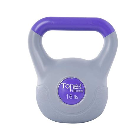 fitness kettlebell vinyl kettle tone bell training versatile engages sculpted toned muscles pound stable particularly entire core body walmart