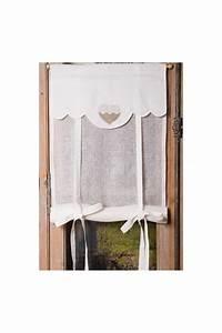 Store En Lin : store lin blanc mod le coeur lin vendus par paire le ~ Edinachiropracticcenter.com Idées de Décoration