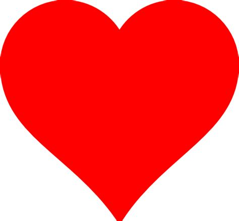 red heart clip art  clkercom vector clip art