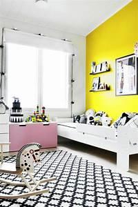 Möbel Farbe Weiß : tipps zur kinderzimmer wandgestaltung mit farbe gelb ~ Sanjose-hotels-ca.com Haus und Dekorationen