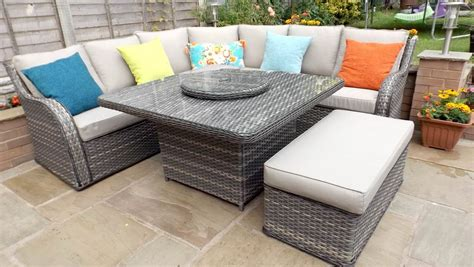 Outdoor Garden Furniture Sets by Nottingham Sofa Corner Dining Outdoor Garden Furniture Set