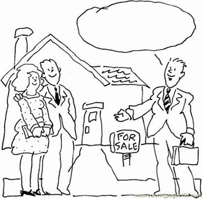 Coloring Pages Seller Estate Cartoons Ingles Perfect
