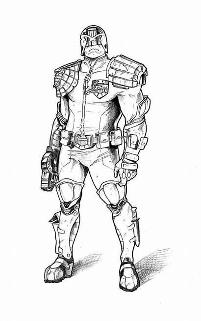 Judge Dredd Drawing Deviantart 2000ad Getdrawings Fan