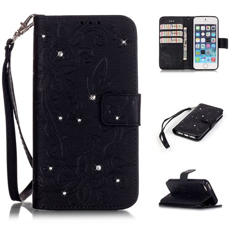 iphone 5s card holder for iphone 5s 6 6s plus butterfly holder wallet