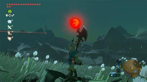 Zelda Blood Moon The Eerie Blood Moon Taken Atop A Hill Near Kakariko