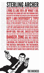 18X24 Archer Quotes Poster by PoppinsDesign on Etsy