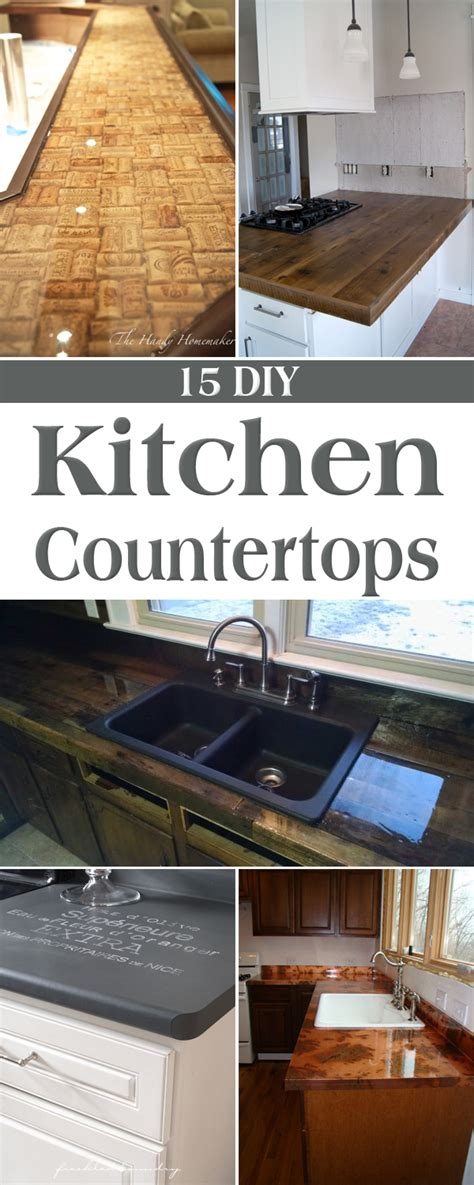 amazing diy kitchen countertop ideas
