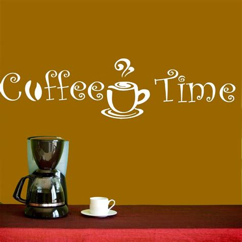 I can't imagine a day without coffee. Wall Decal Vinyl Sticker Coffee Shop Cafe Kitchen Quote Coffee Time Cup Beans Decal Decoration ...