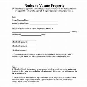 12 free eviction notice templates for download designyep With free 30 day notice to vacate template