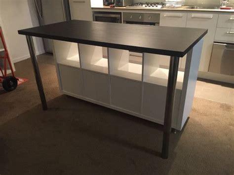 table etagere cuisine ilot de cuisine style ikea pas cher etagere kallax