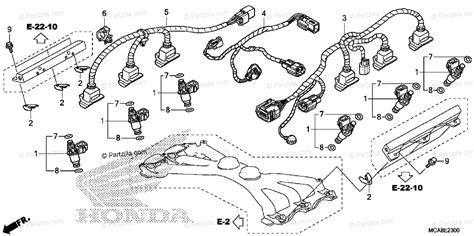 Honda Motorcycle Oem Parts Diagram For Injector