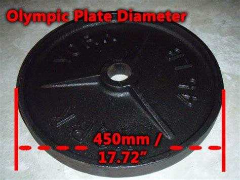 olympic plate diameter    dimensions