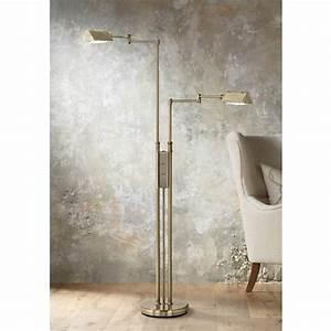 antique brass double pharmacy floor lamp 62417 lamps plus With update brass floor lamp