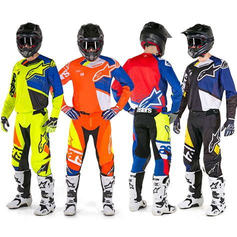 alpinestars motocross jersey alpinestars new mx 2018 techstar factory blue red adults