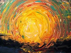 Abstract Art Painting Acrylic Pouring Circle Techniques 08 ...