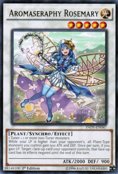 rosemary yugioh yu plant gi oh cards aroma card deck monsters rare inov synchro monster invasion en047 wikia level 1st