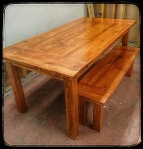 Farm Table in GF's Pecan Water Based Wood Stain General