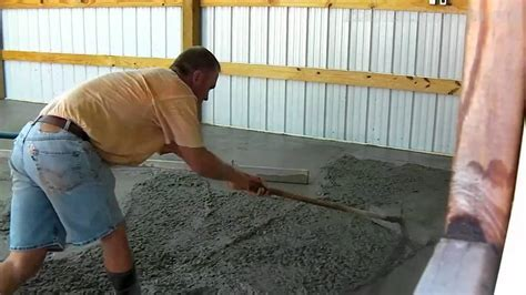 Bat Shop Concrete Floor Pour   Time Lapse   YouTube