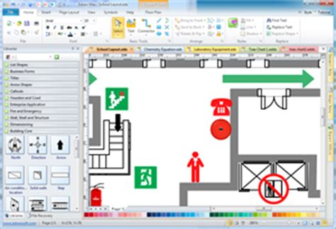 fire  emergency layout floor plan solutions