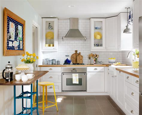 small kitchen  larger  homes gardens