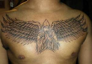 Gallery For > Chest Tattoos For Men Angel Wings