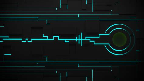 blue aqua digital art circuitry gray black artwork