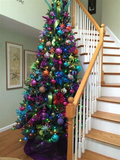 colorful christmas tree decor ideas shelterness