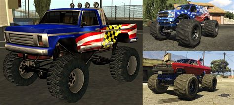 San Andreas Monster Truck Sound + New Handling