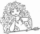 Coloring Merida Disney Brave Princess Colorare Principesse Colorir Colouring Huangfei Princesas Paginas Games Printable Mondo Italia Desenhos Divertiti Delle Colora sketch template