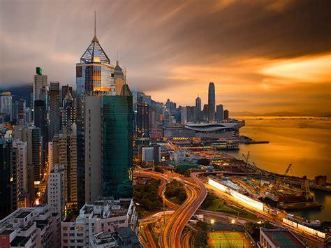 hong kong city  night china desktop hd wallpapers
