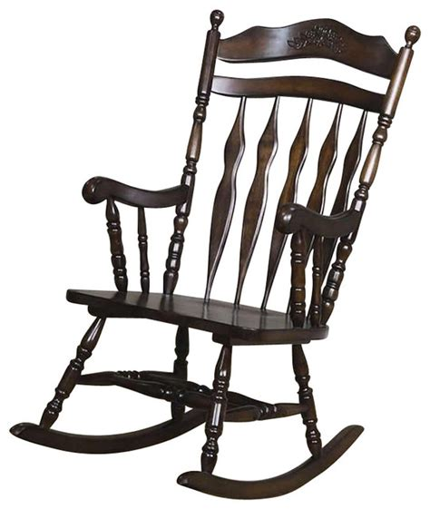 coaster traditional country wood rocker traditional