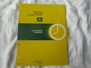 John Deere 200 Lawn Tractor Service Pricing Guide Flat