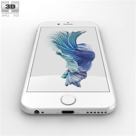 iphone 6s 3d apple iphone 6s silver 3d model humster3d