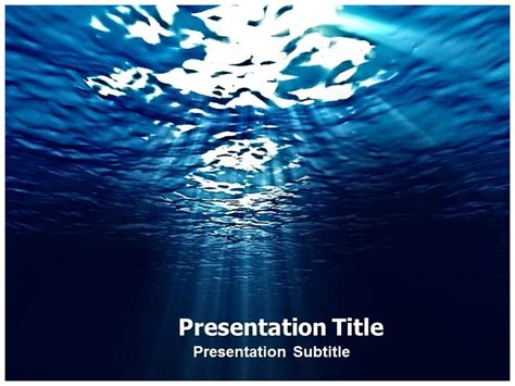 sea powerpoint  template template powerpoint