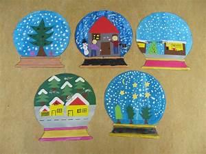 Weihnachtsbasteln Mit Kindern Vorlagen : schneekugeln als kunstthema mit einer f nften klasse habe ~ Watch28wear.com Haus und Dekorationen