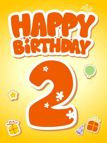 Happy 2nd Birthday Card | Birthday & Greeting Cards by Davia