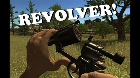 rust revolver weapons rustic