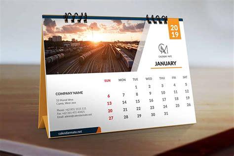 trevor simple clean desk calendar design template psd