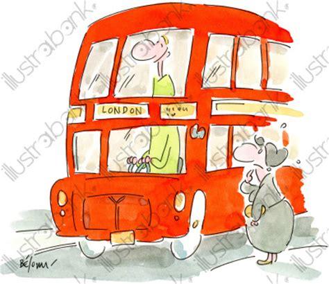 bus anglais illustration routier libre de droit sur